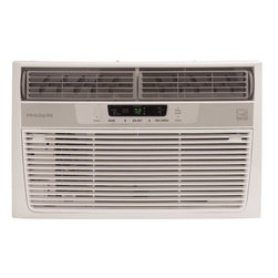 Frigidaire A/C - 6000 BTU, Electronic Controls - Frigidaire's FRA065AT7 6,000 BTU 115V Window-Mounted Mini-Compact Air Conditioner is perfect for rooms up to 216 square feet. It quickly cools the room on hot days and quiet operation keeps you cool without keeping you awake. Low power start-up and operation conserves energy and saves you money. Ready-Select electronic controls allow you to set the comfort level to your preference, while a convenient temperature-readout displays the set temperature. A full-function remote control allows you to precisely control the temperature and fan speed from across the room. The multi-speed fan features three different fan speeds for more cooling flexibility and the 8-way comfort control design allows you to easily control the direction of the cool air, wherever the unit is mounted. Plus, the anti-microbial filter with tilt-out access cleans the air removing harmful bacteria.6,000 BTU mini-compact air conditioner for window-mounted installation uses standard 115V electrical outlet|Quickly cools a room up to 216 sq. ft.|Dehumidification up to 1.3 pints per hour|Ready-select electronic controls allow you to easily select options with the touch of a button|Full-function remote control allows you to precisely control the temperature and fan speed from across the room|Low power start-up and operation conserves energy and saves you money|Quiet operation keeps you cool without keeping you awake|Effortless temperature control maintains preset room temperature so you will remain at your comfort level|Effortless restart resumes operating at its previous settings when power is restored to your unit|8-way comfort control design allows you to easily control the direction of the air wherever the unit is mounted|  frigidaire| fra065at7| fra065| cooling| window| mounted| window-mounted| air| conditioner| ac| a/c| mini| compact| mini-compact| 6|000| 6000| btu| 115  Package Contents: air conditioner|remote control|2 AAA batteries|installation kit|manual|warranty  This item cannot be shipped to APO/FPO addresses