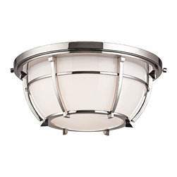Hudson Valley - 4112-PN Conrad Flush Mount, Polished Nickel - Transitional Flush Mount in Polished Nickel from the Conrad Collection by Hudson Valley.