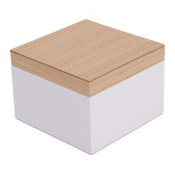WOLF - Vaxholm Small Jewelry Box, White - The Vaxholm Small Jewelry box is perfect for storing  your jewelry and small items. This petite box comes in a variety of fresh and vibrant colors including green, orange, white, aqua, yellow, and dark blue. Each small Vaxholm jewelry box contains one open compartment and is finished with a lacquered wooden top.