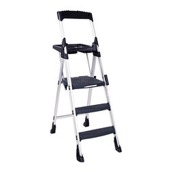 Cosco - Cosco Worlds Greatest 3 Step Folding Step Stool Multicolor - CSC11003ABL1 - Shop for Stepstool from Hayneedle.com! Get the help you need with the Cosco Worlds Greatest 3 Step Folding Step Stool. This stepladder features a durable lightweight aluminum frame molded poly steps and a wide top platform step for added stability. Non-marring skid resistant feet keep floors clean and the ladder from moving when in use. Easy to transport and even easier to use this ladder is there when you need it. About Cosco For over 65 years Cosco has been providing innovative and functional home and office products and continues to be the leader in the industry as the largest manufacturer of folding ladders step stools and folding furniture. Products also include tables and chairs in premium molded plastic wood and metal. Each piece is designed to last for years and each new product is a result of consumer needs innovative research and our dedication to creating products with tremendous value and quality.