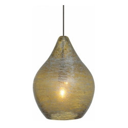 "LBL Lighting - LBL Lighting Relic no. 1 Pendant - The Relic no. 1 Pendant has been designed and made by LBL lighting. This pendant light is a pear-shaped glass shade with mischievous silver accents in your choice of amber, orange, green or clear glass. This fixture is attached to a bronze or satin nickel canopy. The fixture comes with 6' of field-cuttable aircraft cable so you can customize to your desired length. Lighting for this pendant Includes 1 x 35W low-voltage GY6.35 base Xenon bi-pin lamp. cETL LISTED         Product Details: The Relic no. 1 Pendant has been designed and made by LBL lighting. This pendant light is a pear-shaped glass shade with mischievous silver accents in your choice of amber, orange, green or clear glass. This fixture is attached to a bronze or satin nickel canopy. The fixture comes with 6' of field-cuttable aircraft cable so you can customize to your desired length.  Lighting for this pendant Includes 1 x 35W low-voltage GY6.35 base Xenon bi-pin lamp. cETL LISTED Details:                         Manufacturer:            LBL Lighting                            Designer:            LBL Lighting                            Made in:            USA                            Dimensions:            Height: 7"" (17.7 cm) X Diameter: 5.4"" (13.7 cm)                            Light bulb:            Includes 1 x 35W low-voltage GY6.35 base Xenon bi-pin lamp                            Material:            Metal, glass"