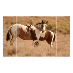 Picture-Tiles, LLC - Horse Picture Kitchen Bathroom Ceramic Tile Mural  18 x 30 - * Horse Picture Kitchen Bathroom Ceramic Tile Mural 1596