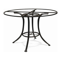 Woodard Landgrave - Universal Gathering Height Table Base - Crafted of aluminum for a lightweight but durable design, this innovative table base will easily allow you to update your outdoor decor. Finished in black, the base can be paired with your choice of available tops, sold separately, for a timeless yet elegant deck, patio or poolside decor.