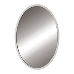 Decolav - Decolav Lola White Wall Mirror - DECOLAV's Lola Oval Wall Mirror is space efficient and is perfect for small bathrooms. The vertically mounted oval mirror is available in various finishes making this collection ideal for any style bathroom decor.