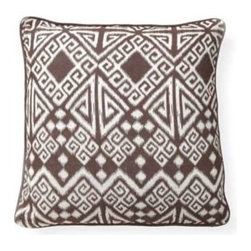 "Villa Home - Pair of Global Bazaar Tangier Brown Pillows By Villa - Ikat, you kat, we should all Ikat! From the Global Bazaar collection these fantastically groovy pillows are distinguished in scrumptious brown. Can stand alone or be layered in a mixed up fashion on a sofa or loveseat. (VH) 100% Linen 22"" x 22"" Sold as a set of two."
