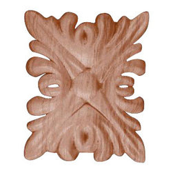 """Superior Moulding of Nevada - 602 Wood Applique 1-3/4"""" x 2-1/8"""" - Decorative wood onlays and appliques, are decorative ornaments useful for bringing visual interest to flat areas. Embossed wood onlays and appliques are often used to decorate fireplace mantels, stove or range hoods and cabinetry headers."""