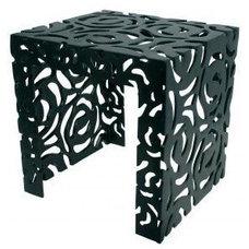 Contemporary Outdoor Dining Tables Black Garden Side Table