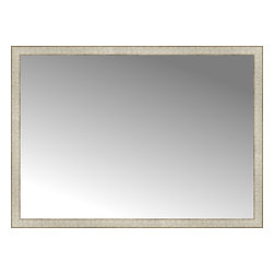 """Posters 2 Prints, LLC - 51"""" x 37"""" Libretto Antique Silver Custom Framed Mirror - 51"""" x 37"""" Custom Framed Mirror made by Posters 2 Prints. Standard glass with unrivaled selection of crafted mirror frames.  Protected with category II safety backing to keep glass fragments together should the mirror be accidentally broken.  Safe arrival guaranteed.  Made in the United States of America"""