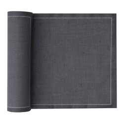 MYdrap - Linen Placemat, Intense Grey - This reusable cotton/linen blend roll of placemats is as convenient as a stack of paper placemats, but better looking and longer lasting. Just tear them off the roll, and when they start to look soiled, either wash them (up to six times) or discard them. If only one or two are soiled, you can easily replace them from the roll and have a full, matching table setting.