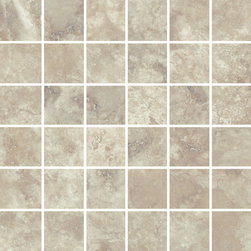 """Rome Collection Imperial Rome - Like walking the ancient streets of Italy, the timeless beauty of Antique Rome provides tumbled edges, while Imperial Rome provides a modern take on a classic stone. This high-tech porcelain collection offers four modular sizes including 24""""X48"""" in addition to trim and mosaic pieces."""