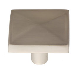 "GlideRite Hardware - GlideRite 1-3/16"" Square Knob Satin Nickel - Upgrade your cabinets with this classic satin nickel square knob. Each knob is individually packaged to prevent damage to the finish. A standard installation screw is included."