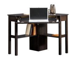 Sauder - Sauder Beginnings Corner Computer Desk CNC in Cinnamon Cherry - Sauder - Computer Desks - 412314