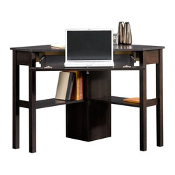 Sauder - Sauder Beginnings Corner Computer Desk CNC in Cinnamon Cherry - Sauder - Computer Desks - 412314