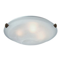 Artcraft - Clips 2-lt Flush Mount - Small round flush mount with semi-clear white glass in brushed nickel finish.
