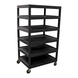 Luxor - Luxor Transport Cart - BC60-B - Luxor's BC's series are multi-tiered, lightweight carts made for every type of environment. It is constructed from high density polyethylene structural foam molded plastic shelves.