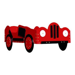 Just Kids Stuff - Race Car Toddler Bed - RACE CAR T-BED - RED - Shop for Toddler from Hayneedle.com! What kid hasn't dreamed of having a race car bed? The Race Car Toddler Bed will fulfill that fantasy and serve as an easy transition from crib to full-sized bed. A standard-sized crib mattress (not included) fits this little racer's bed. This bed is hand-crafted from imported laminated Baltic Birch for pure durability and strength through years of use. This toddler bed can easily support up to 50 pounds and is recommended for children 15 months to 5 years old. Dimensions: 53L x 29W x 19H inches.About Just Kids StuffJust Kids Stuff has been hand-crafting quality products for over 30 years specializing in all-wood children's furniture. We offer toddler beds in several fun styles furniture toys and toy boxes that are the perfect size for toddlers. Kids' safety is our priority so all of our products are tough sturdy and kid-approved!