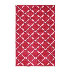 Mohawk - Area Rug: Fancy Trellis Hot Pink 5' x 8' - Shop for Flooring at The Home Depot. Simple pattern combines with bold color in this lattice print rug. The bright pink color is an excellent way to add personality to your decor. Printed on the same machines that manufacture one of the world s leading brands of printed carpet, this rug is extremely durable and vibrant. This technology allows the use of multiple colors to create a rug that is wonderfully designed and applicable to any room in your home.