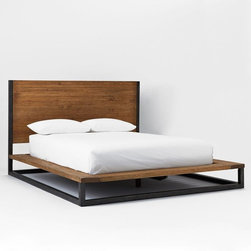 Copenhagen Bed - This simple lofted bed comes complete with storage.