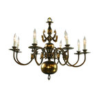 EuroLux Home - Large Consigned Vintage Flemish Ball Chandelier - Product Details