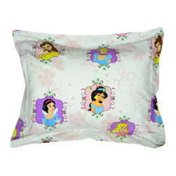 Franco Manufacturing Company INC - Disney Princesses Pillow Sham Princess Twist Bed Accessory - FEATURES: