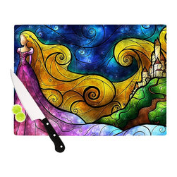 "Kess InHouse - Mandie Manzano ""Starry Lights"" Cutting Board (11.5"" x 15.75"") - These sturdy tempered glass cutting boards will make everything you chop look like a Dutch painting. Perfect the art of cooking with your KESS InHouse unique art cutting board. Go for patterns or painted, either way this non-skid, dishwasher safe cutting board is perfect for preparing any artistic dinner or serving. Cut, chop, serve or frame, all of these unique cutting boards are gorgeous."