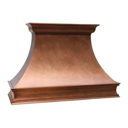 Copper Range Hoods | Sierra | Vogler - Custom Copper Sierra Range Hood by Vogler Metalwork & Design.