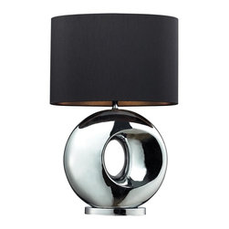 Dimond Lighting - D2236-LED Tobermore Table Lamp, Chrome - Modern Contempo Table Lamp in Chrome from the Tobermore Collection by Dimond Lighting.