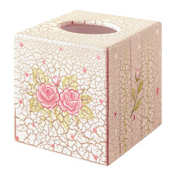 Teamson Design - Teamson Kids Crackled Rose Room Tissue Cover - Teamson Design - Boxes - W7300AR. This product is such a win-win situation. Not only do you get a cute decorative piece for you daughters room but it is also a tissue box that can always come in handy when your child gets sick.