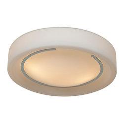 Access Lighting - Access Lighting 20680-CH/OPL Opal Glass Flush Mount - Access Lighting 20680-CH/OPL Opal Glass Flush Mount