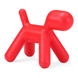 ZUO MODERN - Pup Chair Red - Surprise children with a puppy without worry about allergies! The polypropylene-based Pup kid's chair is built for rough handling and hours of fun.