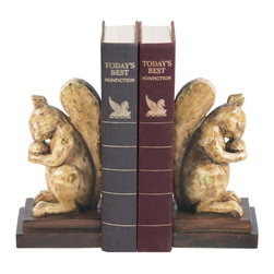 Sterling Industries - Pair Acorn Lover Bookends - Pair Acorn Lover Bookends