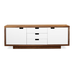 Gus Modern - Gus Modern Wilson Cabinet - Northern exposure — this versatile and roomy cabinet takes its cue from Scandinavian, midcentury design, and offers you a more modernist approach to storing all the accoutrements of contemporary living.