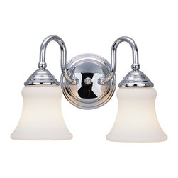 Sea Gull Lighting - Sea Gull Lighting 40021-05 Darien Chrome 2 Light Vanity - Sea Gull Lighting 40021-05 Darien Chrome 2 Light Vanity