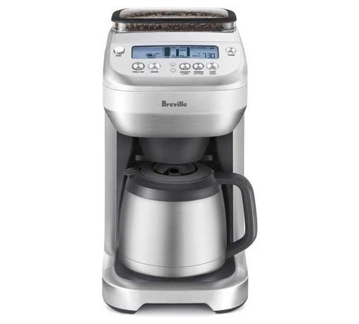 Breville - Breville You Brew Automatic Grind & Brew 12-Cups Coffee Maker - Grind it, brew it, pour it and keep it hot all with this multifunction coffee maker. It features an insulated, stainless steel, 12-cup carafe technology that ensures the right proportions of coffee to water, a clock and timer, a half pound bean hopper with powerful grinder and multiple taste settings — so you can get your buzz on.