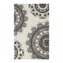 Surya - Surya SUR-FLO9003 Flor Transitional Hand Hooked Wool Rug - Great floral designs in warm colors make Flor a collection for people who like to add some casual flair to their decor. Hand hooked in China from 1% wool, this collection is a beautiful addition to any home decor.