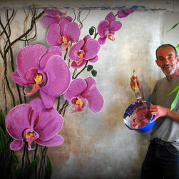 """Original Large size Paintings available. - """"Orchids"""""""