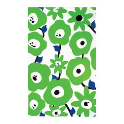 MU Cotton Towel Blossom Green - New designer cotton towels from MU!  Dig into these uber-hip prints on big  soft cotton towels - perfect for so many tastes.Product Features                      100% cotton          Fun prints match any decor