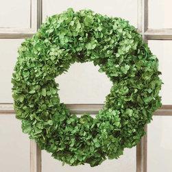 Viva Terra - Green Hydrangea Wreath - Introducing our ingenious and seasonally