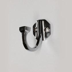 Octagonal Plate Single Robe Hook #2553 in Polished NIckel -