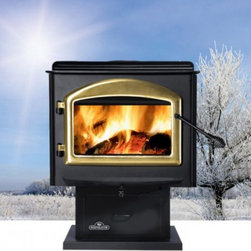 Napoleon - Napoleon Medium Wood Stove with Pedestal - 1400P-H222 - Shop for Fire Places Wood Stoves and Hardware from Hayneedle.com! Winter just got a bit warmer with the Napoleon Medium Wood Stove with Pedestal. Beautifully crafted from solid cast iron with a classic European design and elegantly curved door this wood stove is both sophisticated and functional. Able to burn up to nine hours and heat up to 2000 square feet this gorgeous wood stove will keep you and your loved ones warm for hours. Its 2.5 cubic square foot firebox is able to hold logs up to 18-inches long. Lift the top lid to expose the hotter heavy gauge steel stove which is perfect for cooking. Airwash technology combined with the heat keeps the large viewing glass clean so you can enjoy watching your fire burn. The pedestal design provides you with outstanding heat and low emissions. Aesthetic and practical you'll find yourself looking forward to cold days that are perfect for lighting and enjoying a fire all winter long. Additional Features Can heat 800-2000 square feet Approved for use in a mobile home Up to 70000 BTU's on high burn Firebox holds up to 2.5 cubic square feet Beautiful large viewing area Elegant arched cast iron door Lift top lid exposes the hotter surface of stove Heavy gauge steel top is ideal for cooking Airwash technology and high heat cleans glass Ash pan with lid and black louvers black trivet Strong and sturdy pedestal stand Your choice of beautiful door designs EPA certified Use of a professional installer is recommended to ensure the safety of the exhaust system. About NapoleonNapoleon got its start in 1976 as a steel fabrication business launched by Wolfgang Schroeter in Barrie Ontario Canada. Solid cast iron two-door stoves were became a single glass door model with Pyroceram high-temperature ceramic glass. In 1981 the name Napoleon was coined for their items. Over the years Napoleon has led the way with innovative engineering and design. They are now North America s largest privately owned manufacturer of quality wood and gas fireplaces gourmet gas and charcoal grills outdoor living products and heating and cooling products.