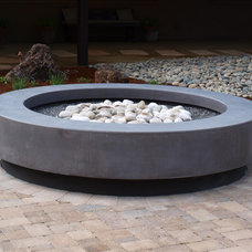 Contemporary Firepits by Mark Concrete