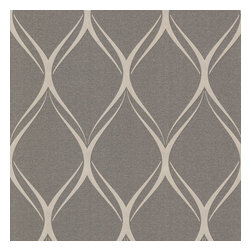 Brewster Home Fashions - Gustav Brown Geometric Wallpaper Bolt - Brewster Home Fashions brings you this contemporary wallpaper look from Decorline's Platinum collection in a chocolate and pewter palette. Fresh and modern with alluring curves and a radiant pearl finish.
