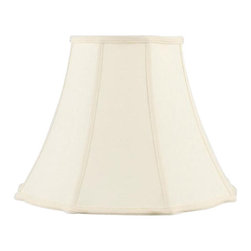 Livex Lighting Inc - Livex Silk Lamp Shade Off White Bell Star Shantung Silk Shade -S521 - Washer Top Fitter