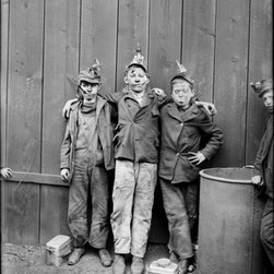 Coal Breaker Boys Kingston, Pa. Print - Coal Breaker Boys photographed by the Detroit Publishing Company between 1890 and 1910 on 8x10 glass plate negative. Jacket title: Breaker Boys, Kingston, Pa.