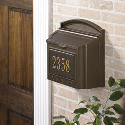 Whitehall Products LLC - Wall Mailbox - French Bronze - Wall Mailbox Only - Plaque must be purchased separately