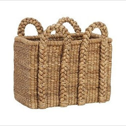 Beachcomber Seagrass Basket, Rectangular, Oversized - Our Beachcomber basket is handwoven from sustainable natural fibers and is ideal for keeping extra pillows, blankets and other everyday necessities neatly stowed. Sturdy handles allow for lightweight, easy toting. Hand woven of chunky, natural seagrass. Watch a video about {{link path='/stylehouse/videos/videos/ba_v5.html?cm_sp=Video_PIP-_-DECORATING-_-BEACHCOMBER_BASKET' class='popup' width='420' height='300'}}decorating with baskets{{/link}}. See this item featured in {{link path='pages/popups/asi_ch_211.html' class='popup' width='720' height='800'}}Canadian House & Home{{/link}}.