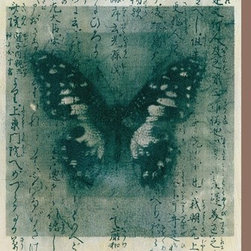 Artcom - Butterfly Calligraphy I by Elena Ray Artwork - Butterfly Calligraphy I by Elena Ray is a Stretched Canvas Print.