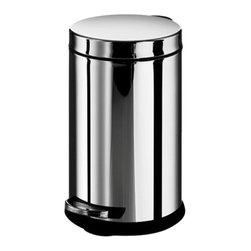 WS Bath - WS Bath Collections Treadle Dust Pin 2 Gallon Trash Can Multicolor - OTEL 53298. - Shop for Wastebaskets from Hayneedle.com! Don't waste a chance to accent your bathroom or bedroom - the WS Bath Collections 6 Liter Treadle Dust Pin is a sleek stylish way to manage waste. Crafted with durable stainless steel in a shiny gray chrome finish this round trash bin is conveniently sized to fit into nooks and little spaces. Press the treadle to open the lid and change liners without dirtying your hands.About WS Bath CollectionsA tradition of fine handcraftsmanship warmth of material and beauty of design characterizes this company's exclusive collection of fine bathroom and kitchen products. The collections include innovative and distinctive sinks washbasins washstands bathtubs bathroom furniture and complementary accessories that provide inspirational solutions for every imaginable decor.