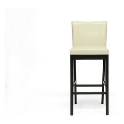 Baxton Studio - Graymoor Modern Bar Stool (set of 2) - A rather understated splendor breaks through the sharp lines of our