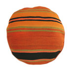 Baba Souk - Round Striped Moroccan Pillow - While wandering through Marrakesh and visiting the coolest riads, (which are traditional guesthouses usually decorated with great folkloric finds, the hippest places to stay when traveling to Marrakesh) I noticed a new trend, these wonderful pillows with colorful candy stripes! Since I am a huge fan of stripes I loved them instantly.